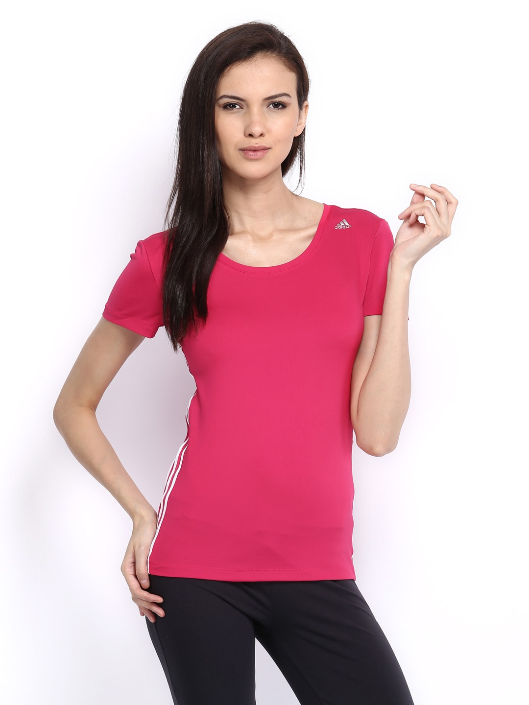 Adidas Adidas Women Pink T-Shirt (Multicolor)