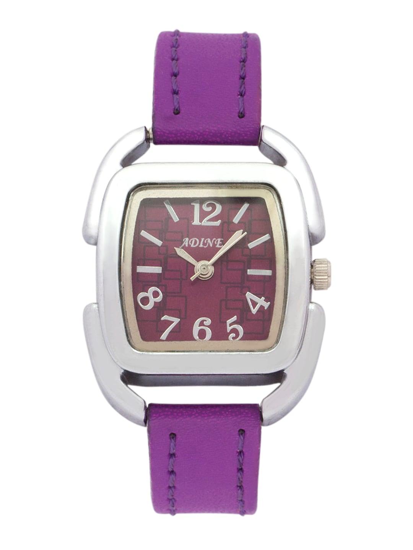 Adine Women Purple Dial Watch AD-1219 (violet)