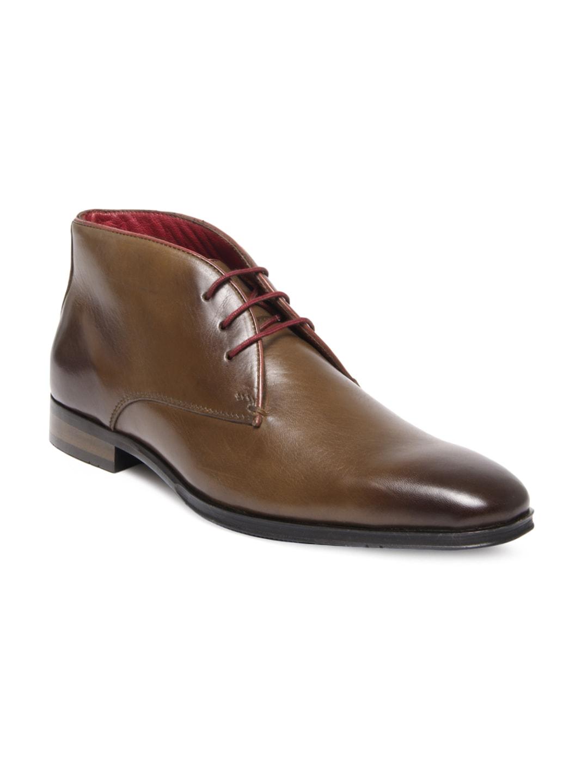 buy alberto torresi brown leather semi formal shoes