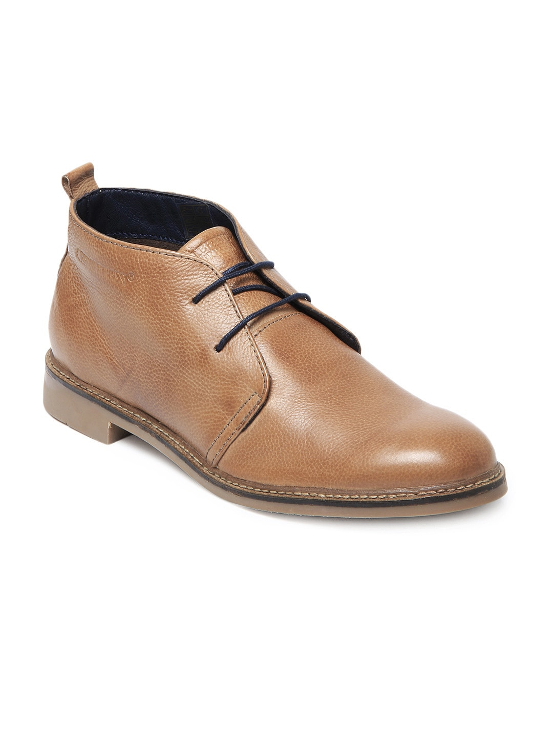 buy alberto torresi brown leather semi formal shoes