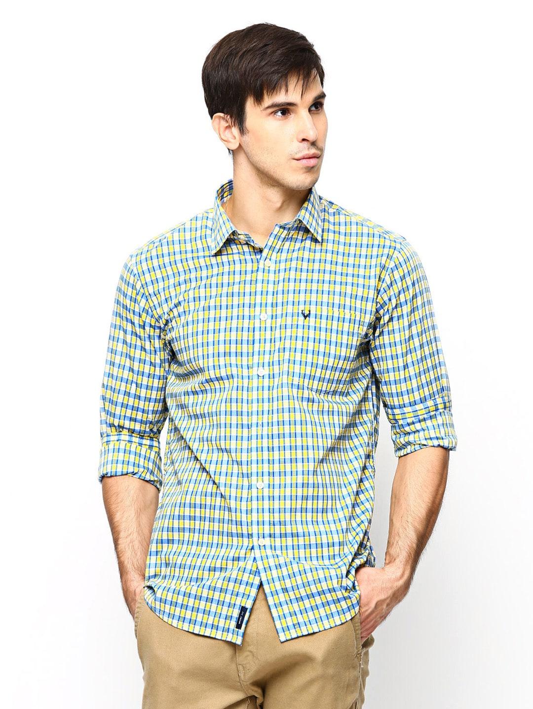 e572c268 Allen Solly Men Multicoloured Checked Sport Fit Casual Shirt (multicolor)