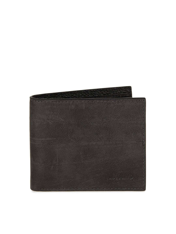 Alvaro Castagnino Men Charcoal Grey Wallet