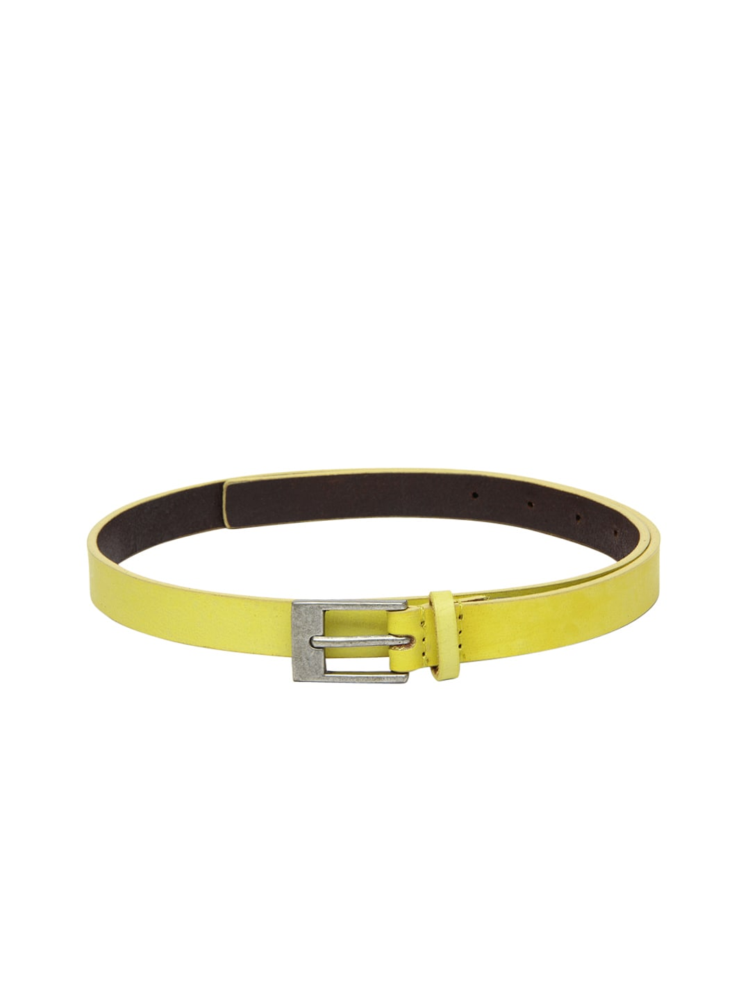 American Swan Women Yellow Leather Belt