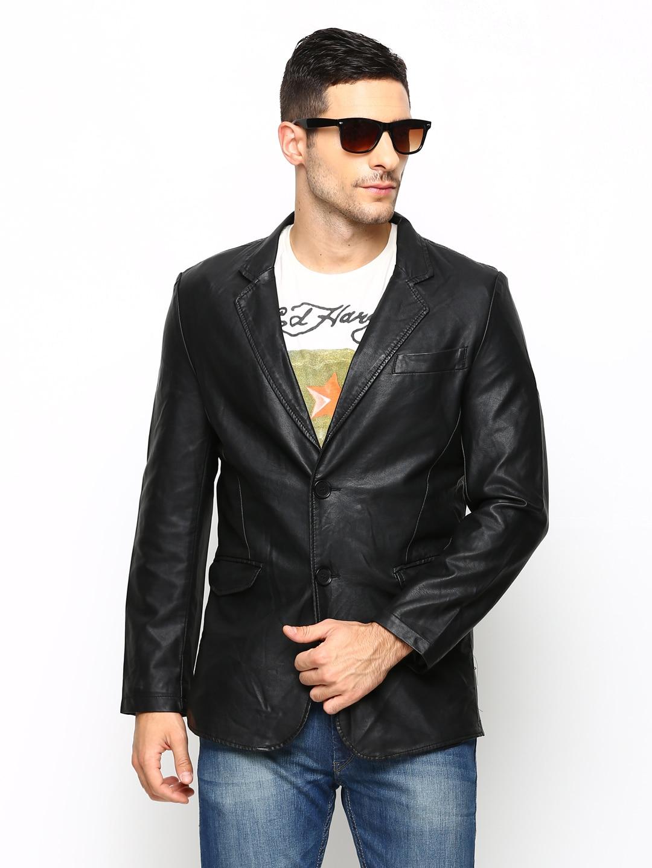 Arrow New York Men Black Jacket