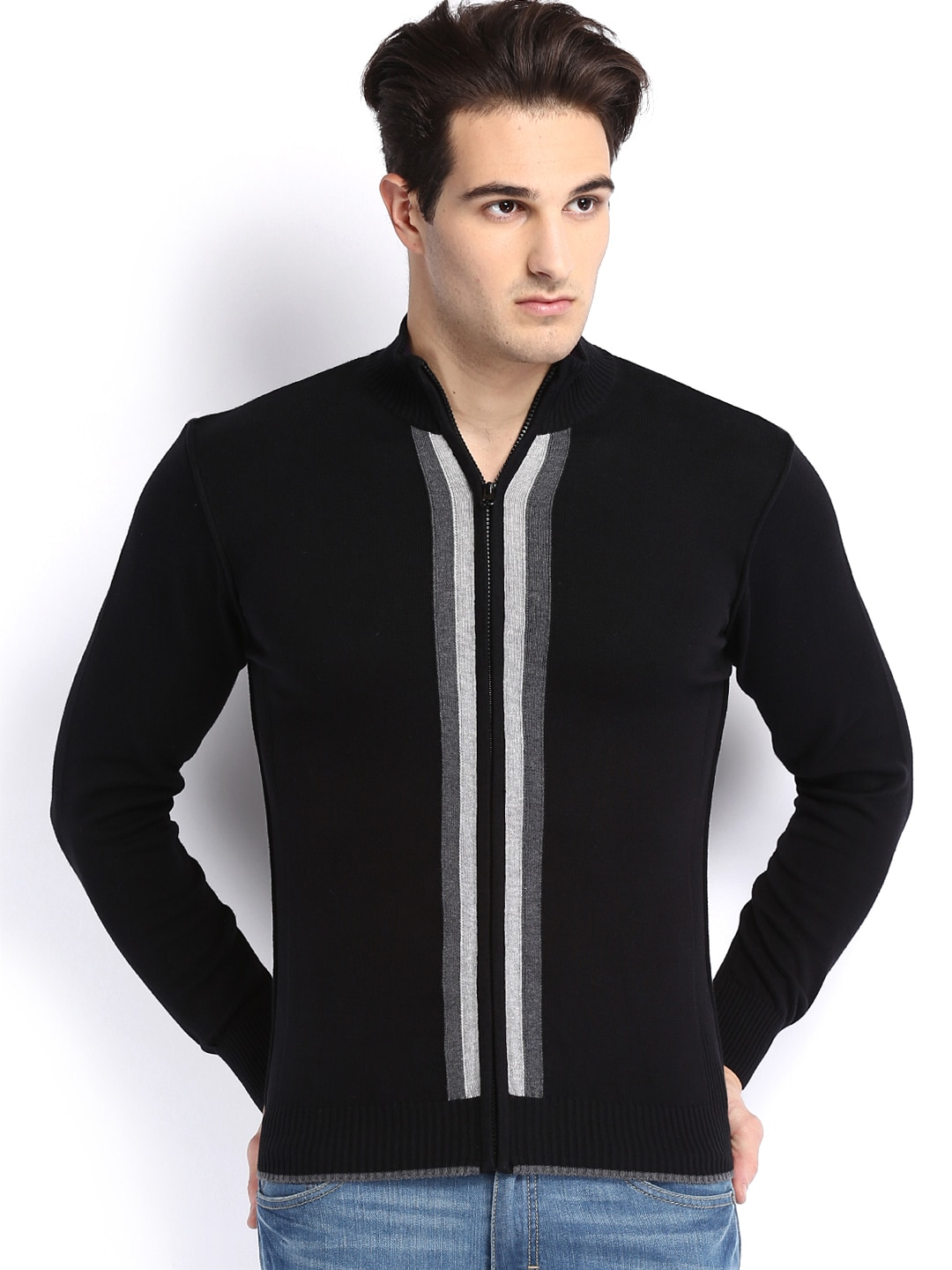 Arrow New York Men Black Sweater