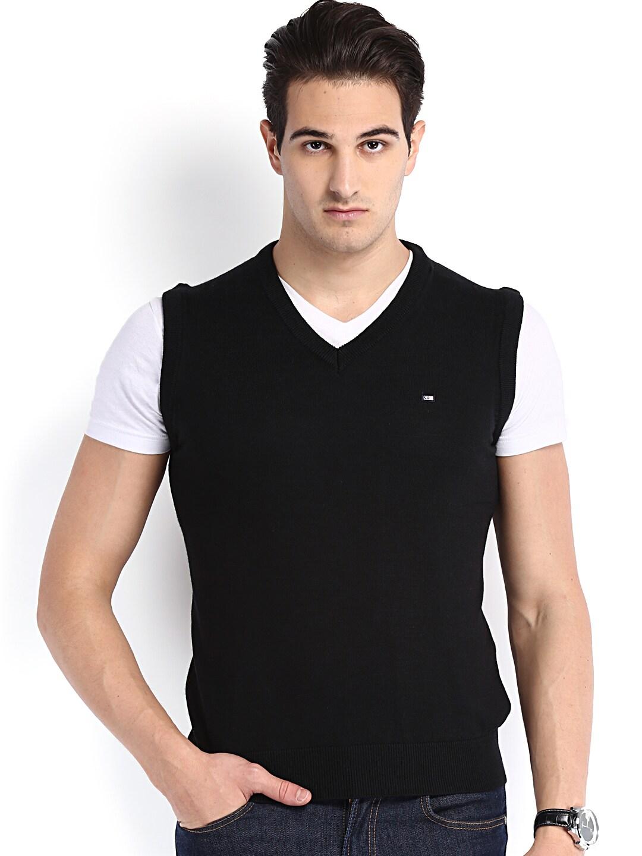 Arrow Sport Men Black Woollen Sweater