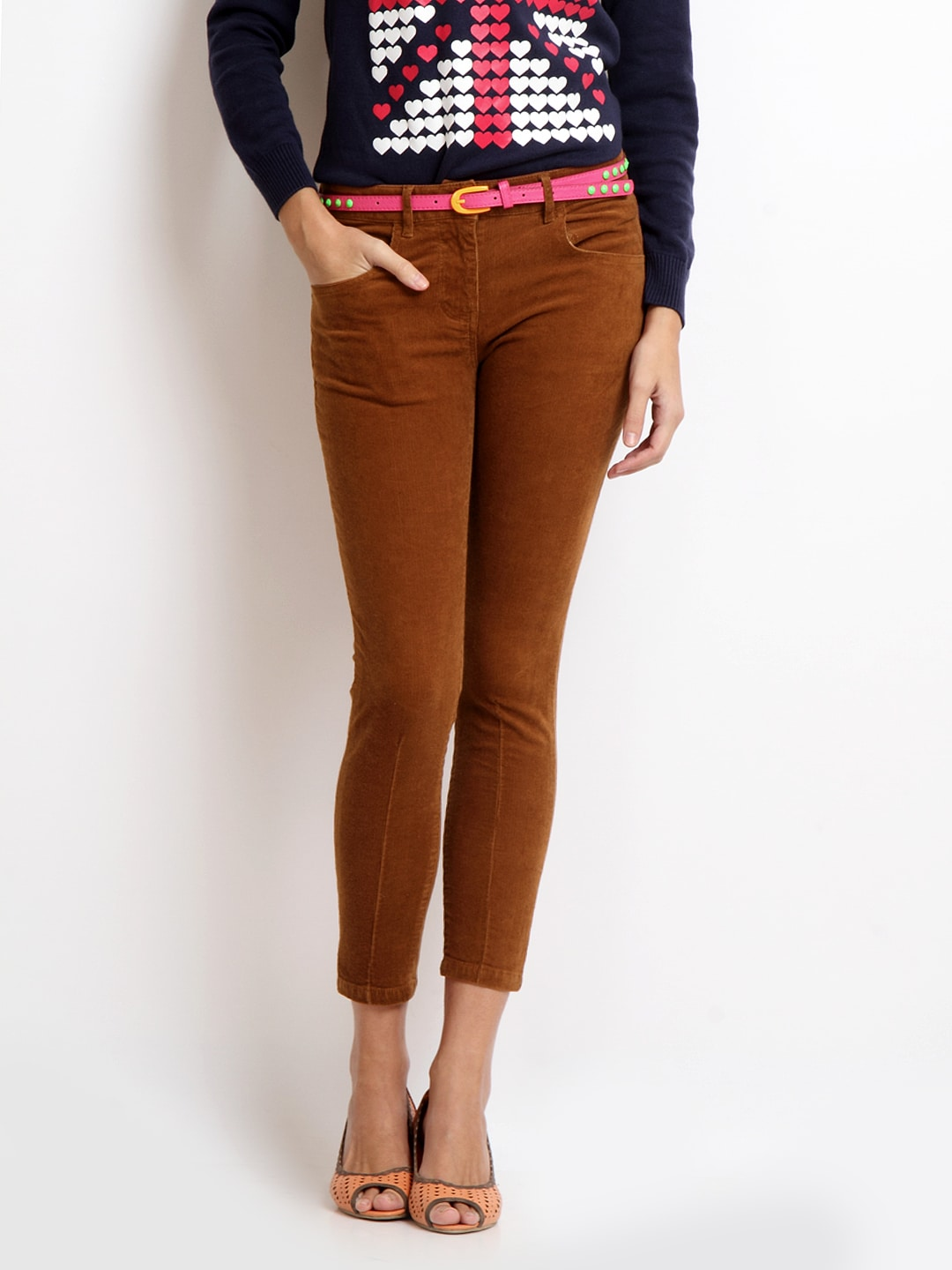 brown corduroy pants for women - Pi Pants