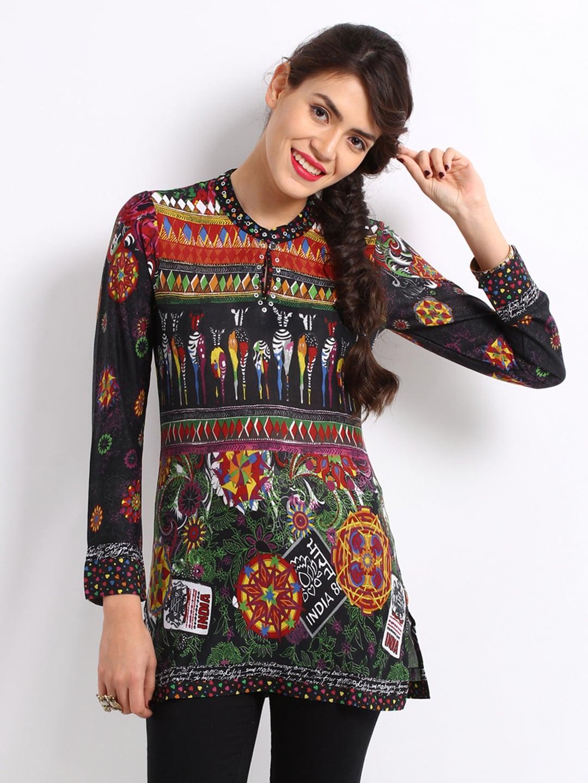 Buy Biba Outlet Women Multi Coloured Printed Kurti