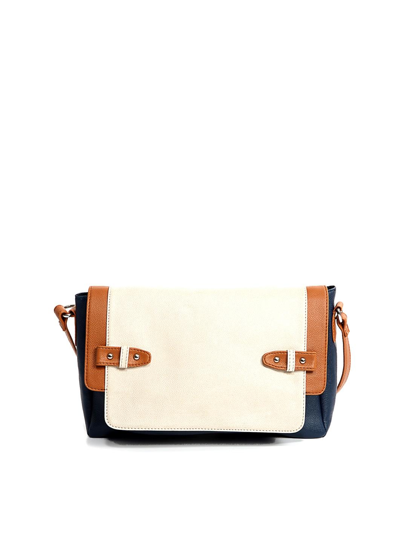 Buy Bagsy Malone Navy & Beige Sling Bag (beige\/sand\/tan) 1279345 ...
