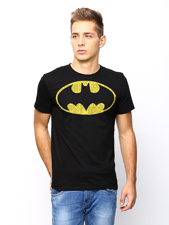 Batman Batman Men Black Printed T-Shirt (Multicolor)