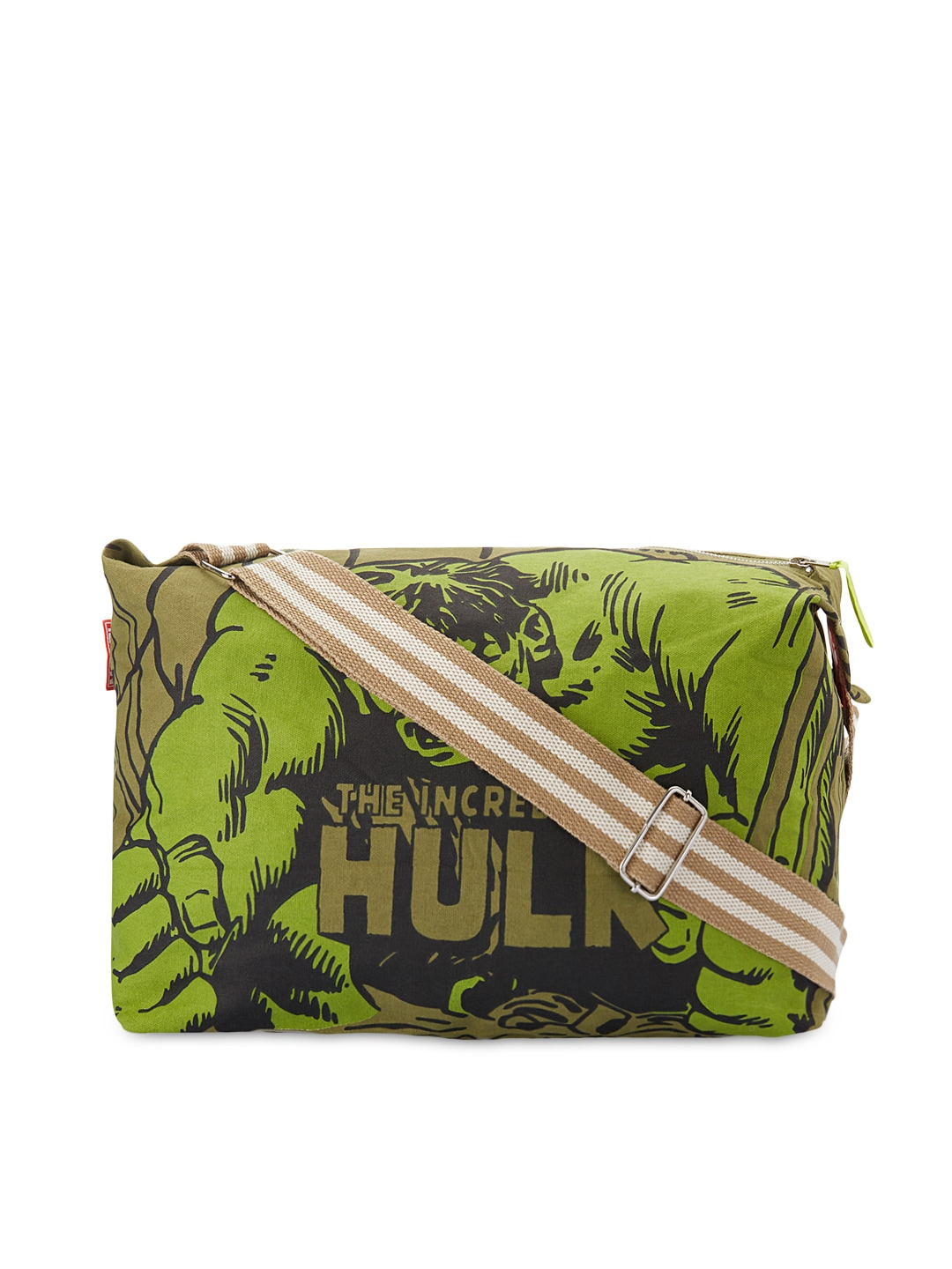 Be For Bag Be For Bag Men Green Marvel Collection Printed Sling Bag