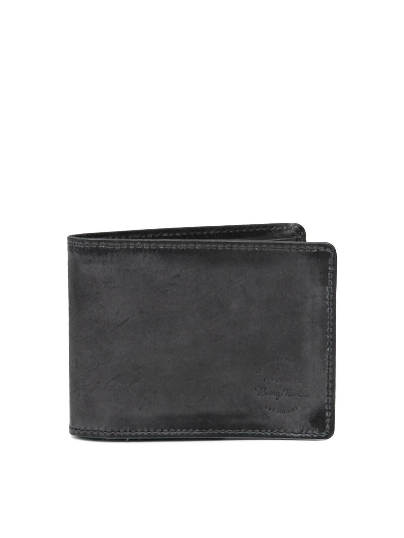 Being Human Clothing Men Black Leather Wallet