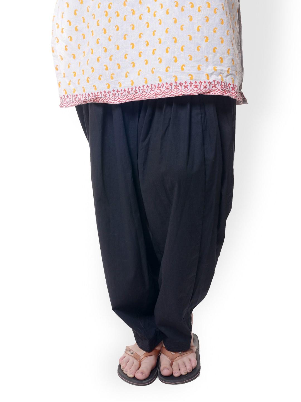 Bitterlime Women Black Patiala Pants