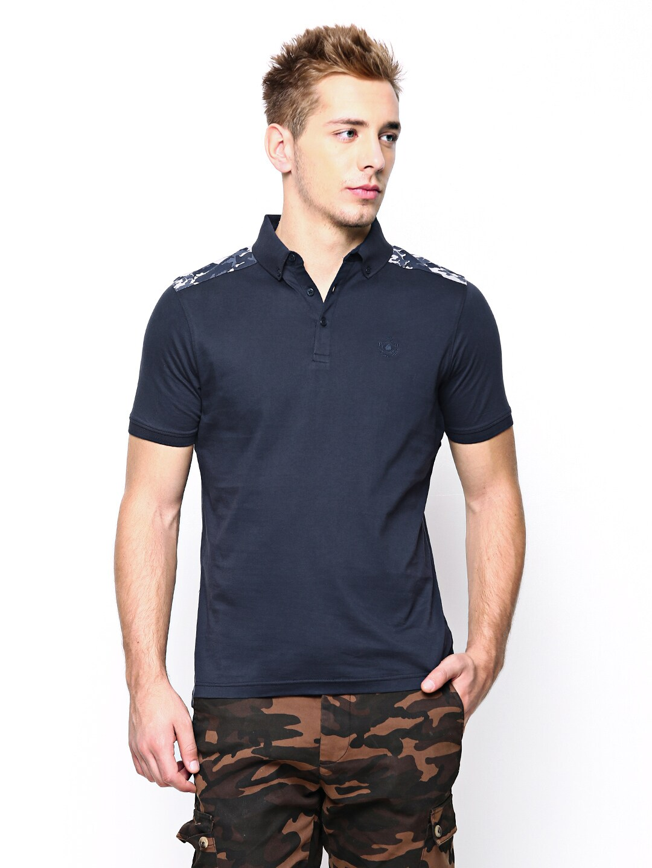 Blackberrys Blackberrys Men Navy T-Shirt (Multicolor)