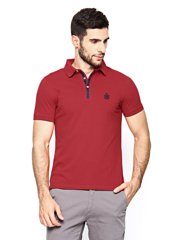 Blackberrys Blackberrys Men Red Polo T-Shirt (Multicolor)