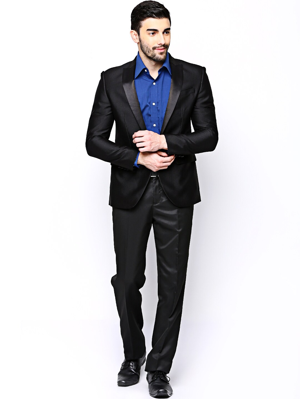 Buy Blackberrys Men Black Slim Fit Single Breasted Suit - 649 - Apparel For Men - 540641