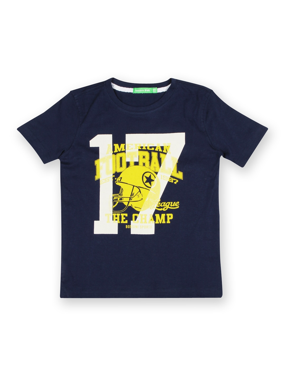 Bossini Bossini Boys Navy Printed T-Shirt (Multicolor)