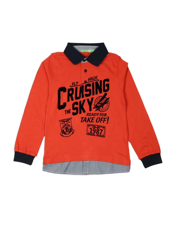Bossini Bossini Boys Red Polo T-Shirt (Multicolor)