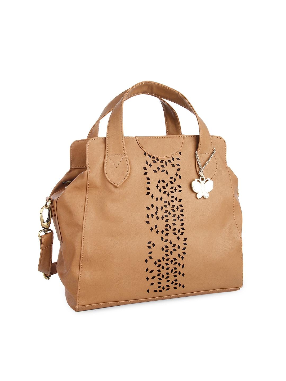 Butterflies Brown Handbag