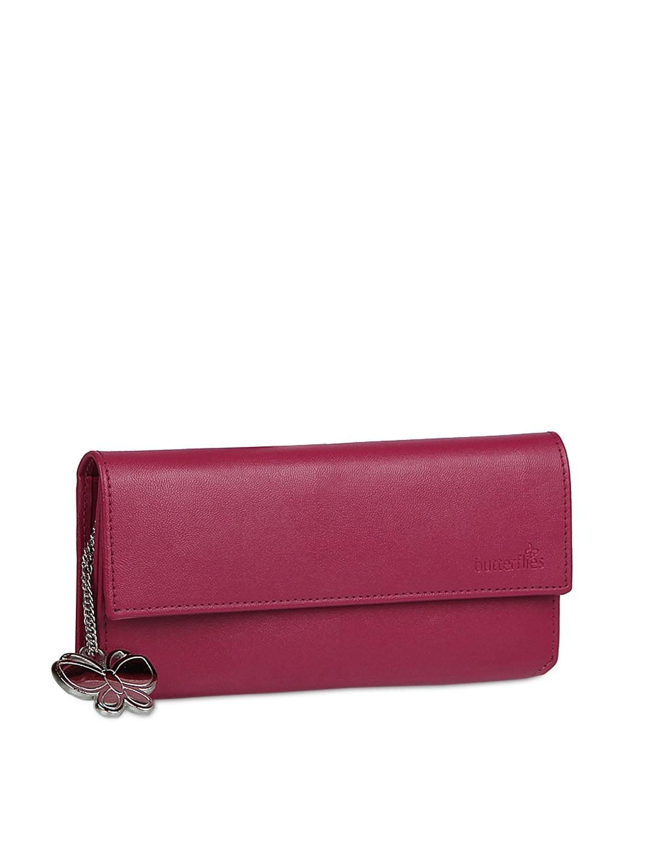 Butterflies Women Pink Wallet