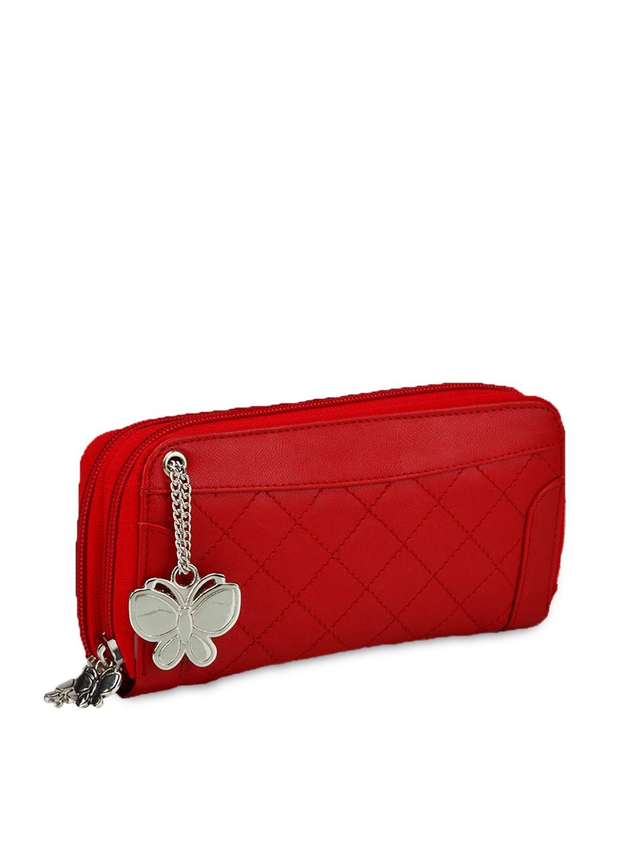 Butterflies Women Red Wallet