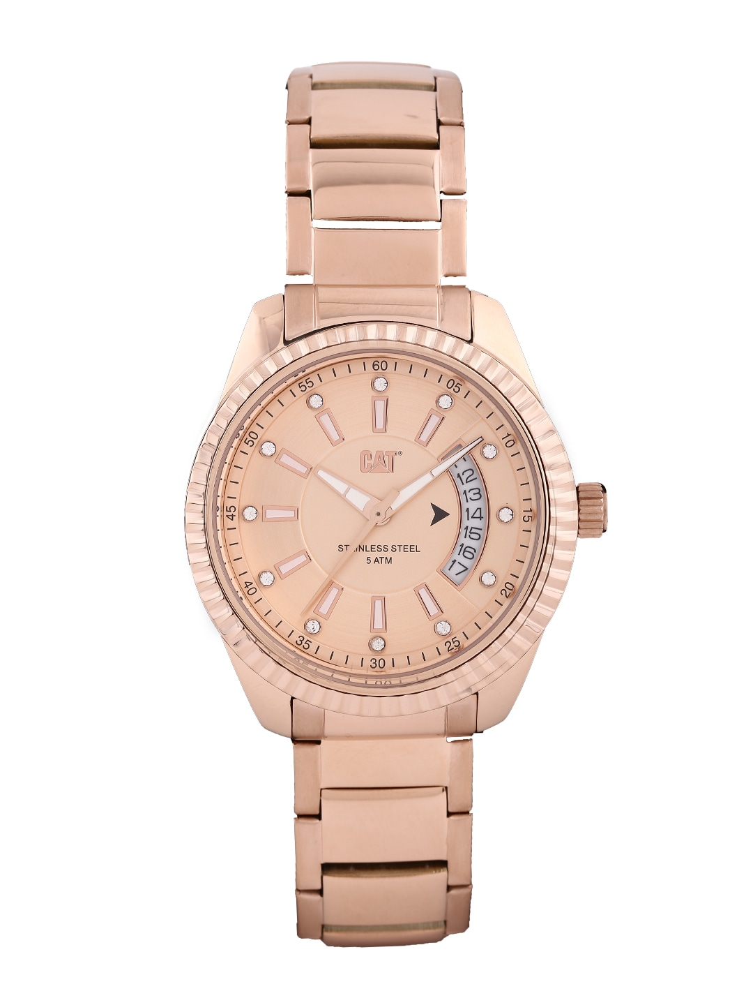 Cat CAT Women Rose Gold-Toned Dial Watch L4.391.19.929 (Yellow)