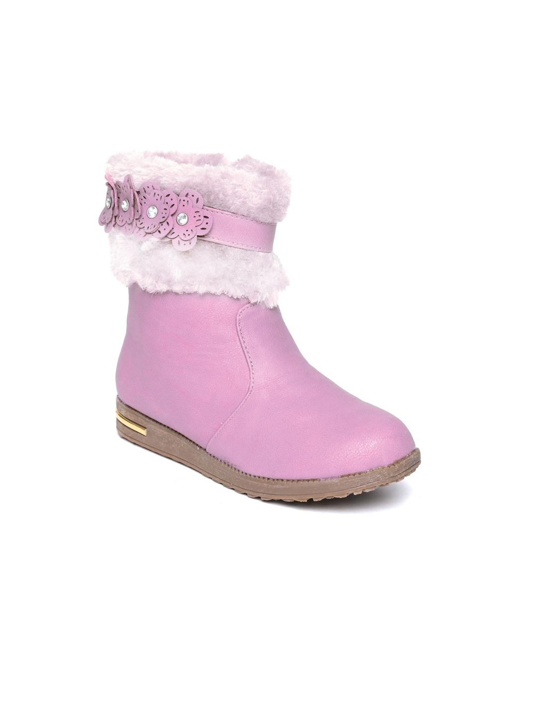 CUTECUMBER Girls Pink Flat Boots