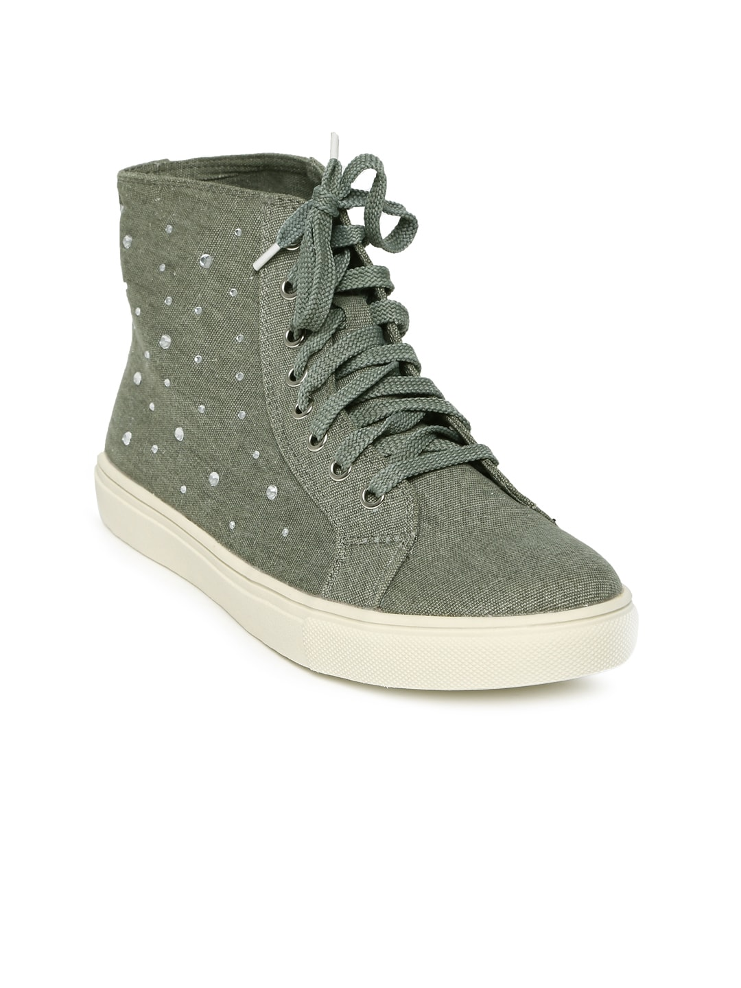buy carlton olive green casual shoes 632