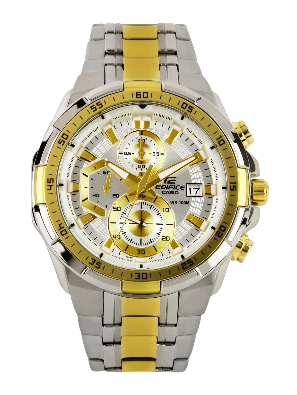 Casio Edifice Men Silver Toned Dial Watch EX189