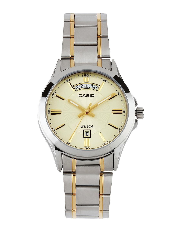CASIO Men Cream-Coloured Dial Watch A843