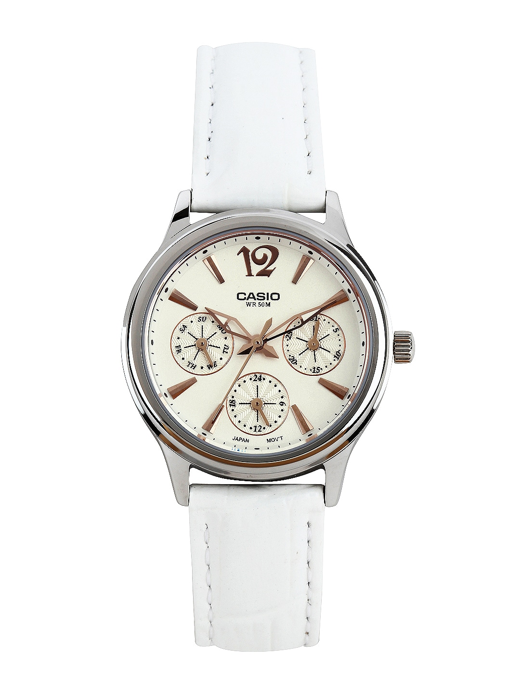 Casio Enticer Women White Dial Watch A863