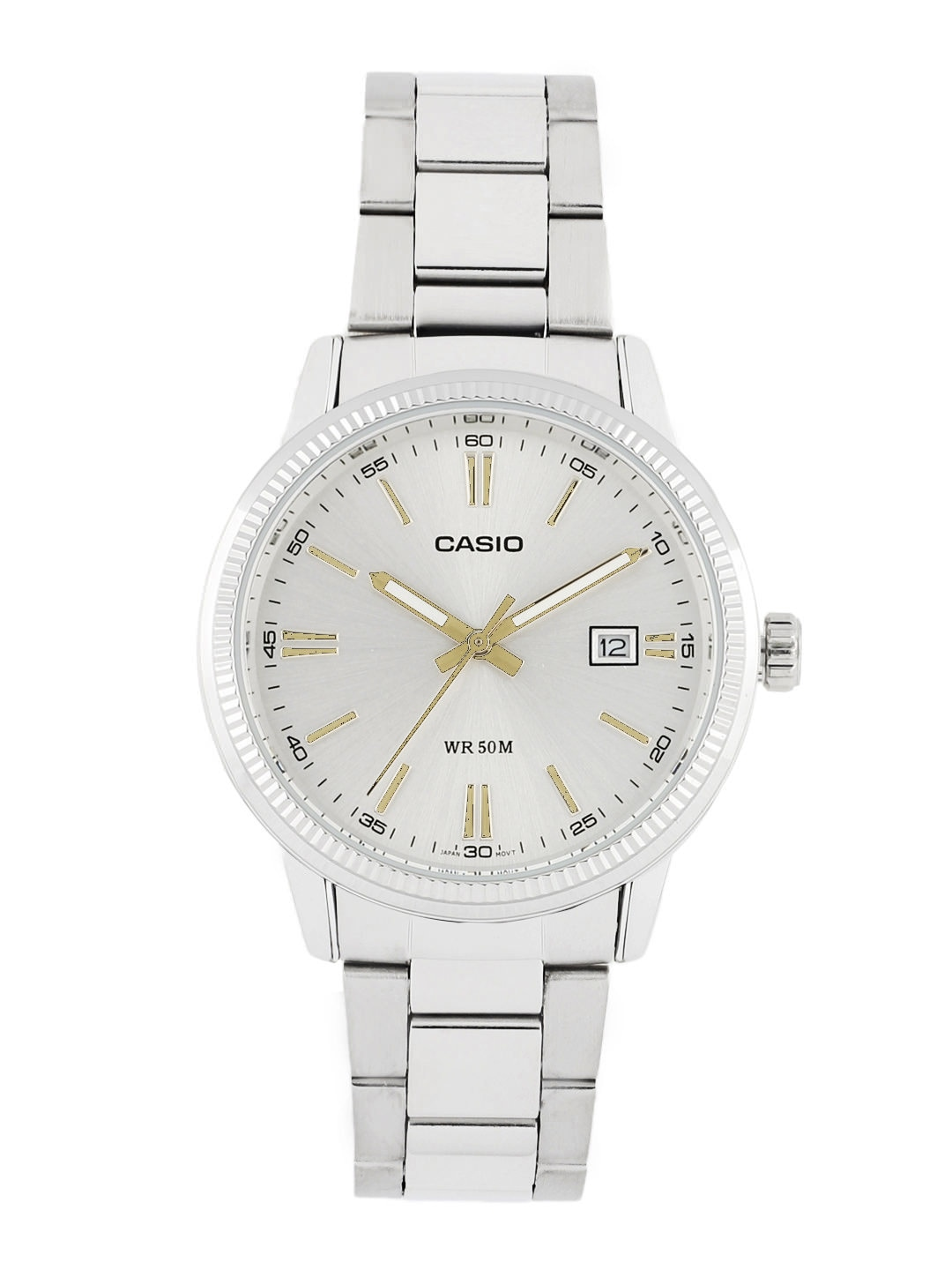 Casio Men Silver-Toned Dial Watch A488