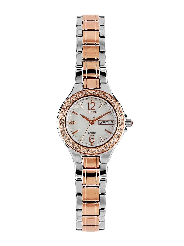 Casio Sheen Women White Dial Watch SX100