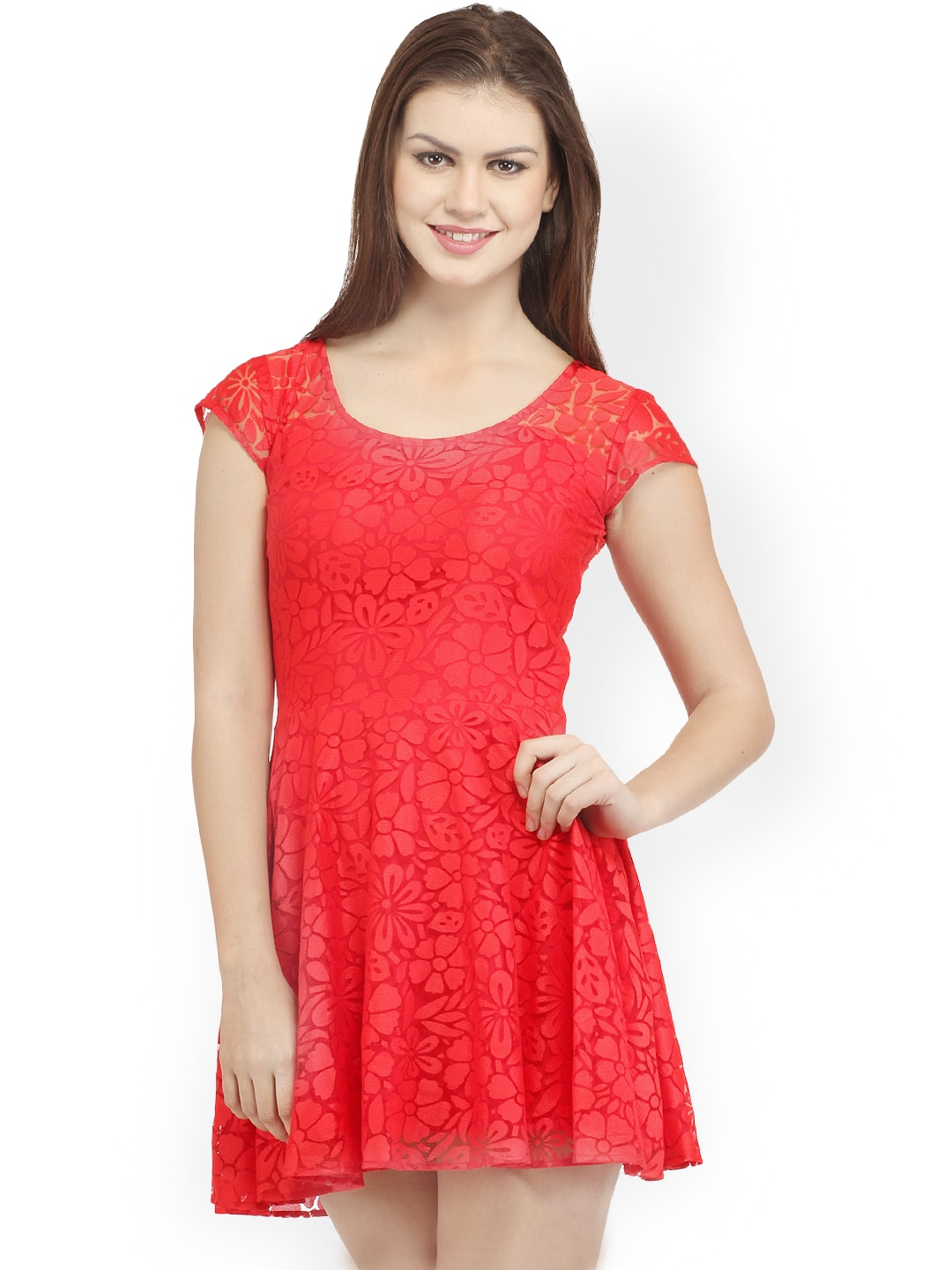 Cation Red Skater Dress