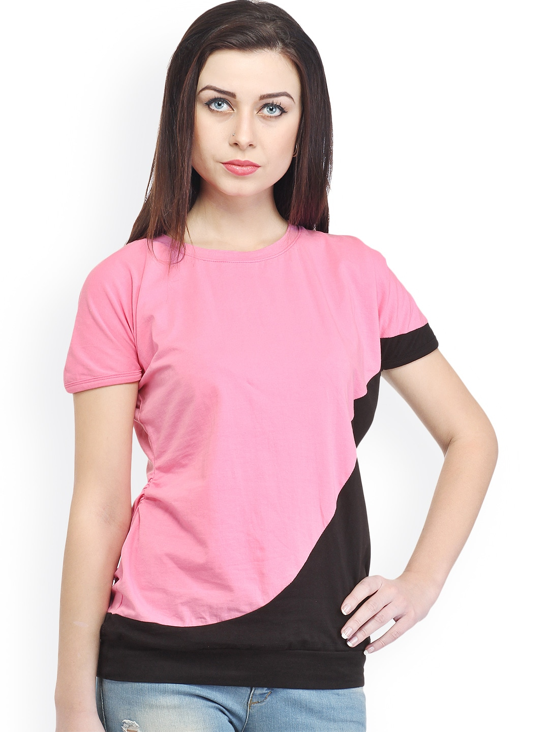 Cation Women Pink & Black Top