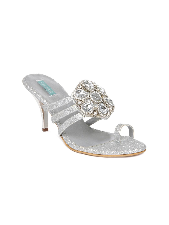 c62f2c71dee9e Buy Catwalk Women Silver Toned Heels 1397519 for women online in ...