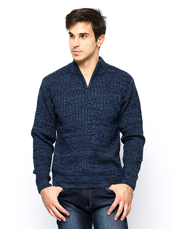 Cherokee Men Blue Sweater