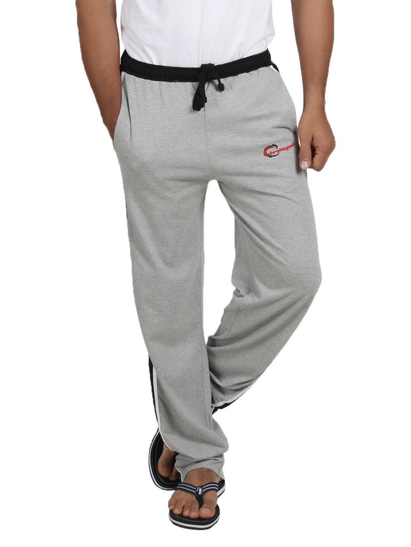 Chromozome Men Grey Melange Fashion Lounge Pants S-5145