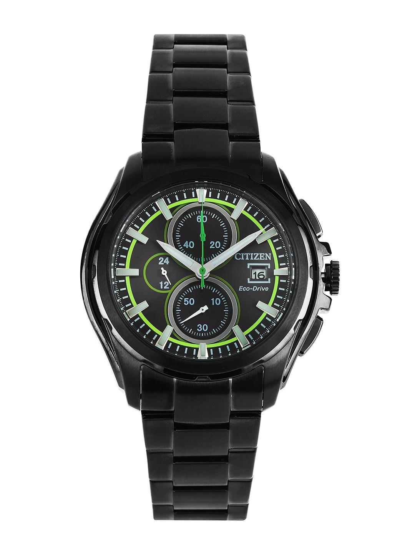 Citizen Men Black Dial Eco-Drive Watch CA0275-55E