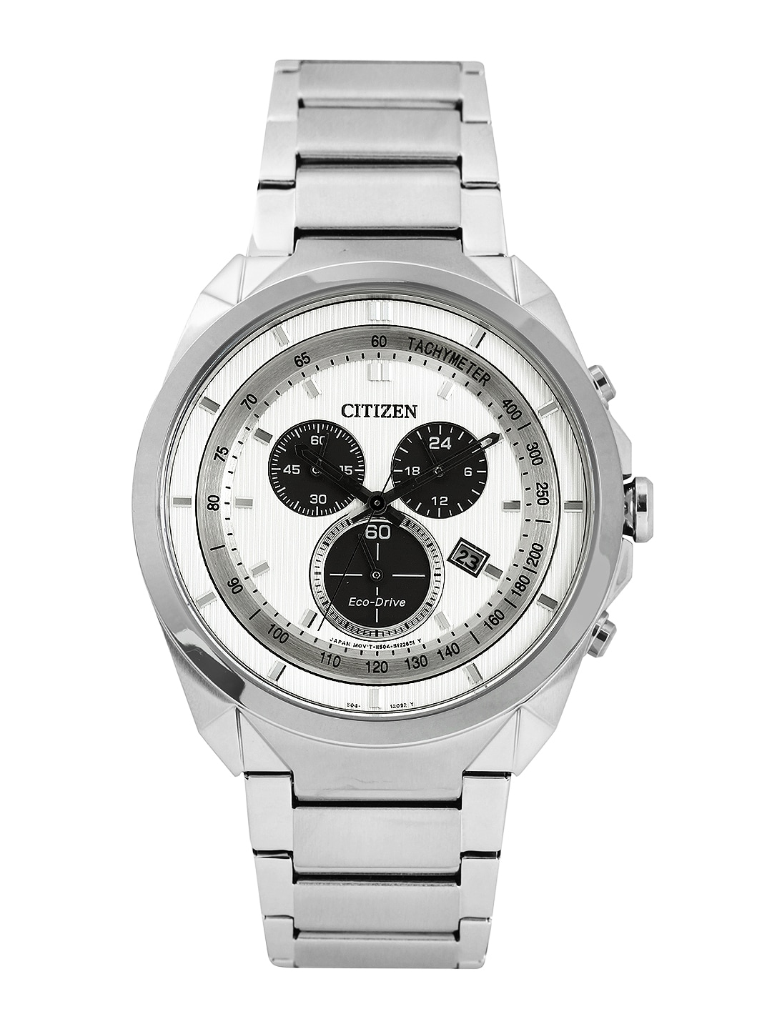 Citizen Men White Dial Eco-Drive Watch AT2150-51A
