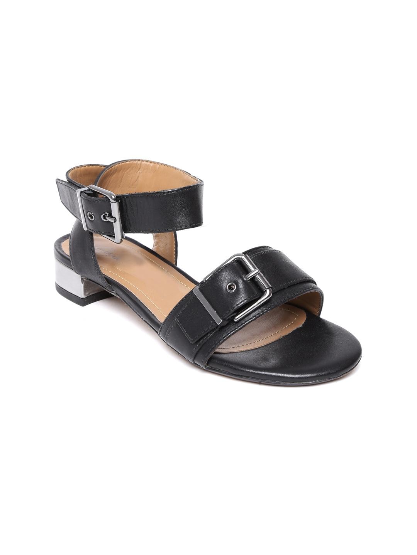 Clarks Women Black Leather Sandals