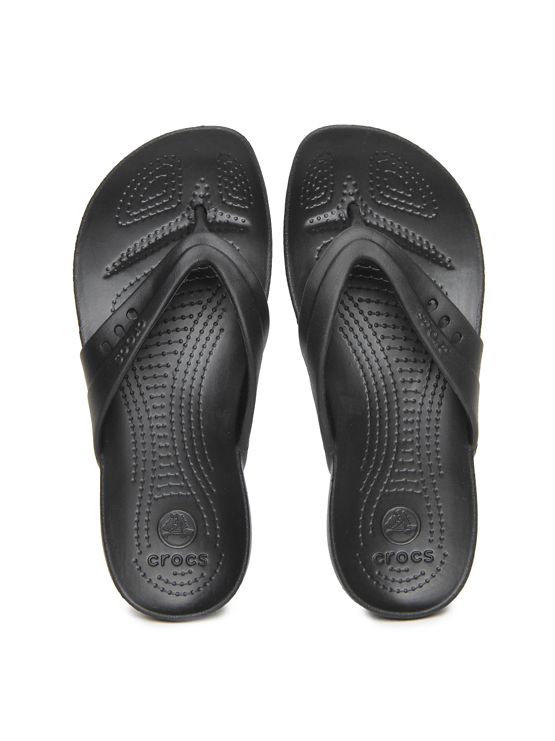 Crocs Women Black Kadee Flip Flops