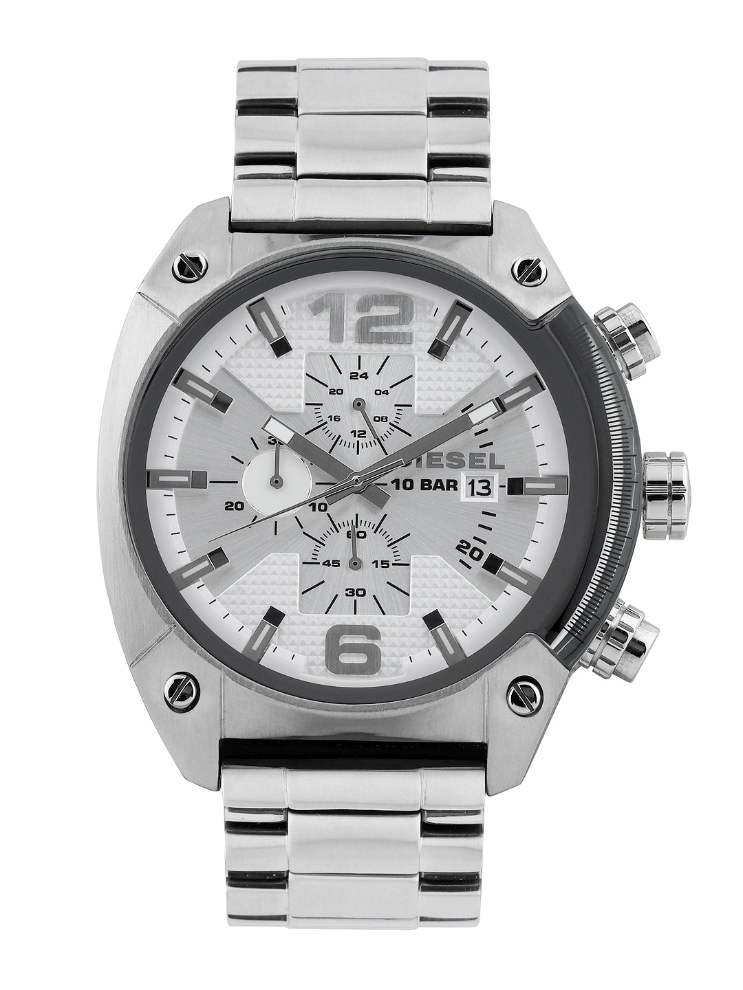 DIESEL Men Silver-Toned Dial Watch DZ4203I
