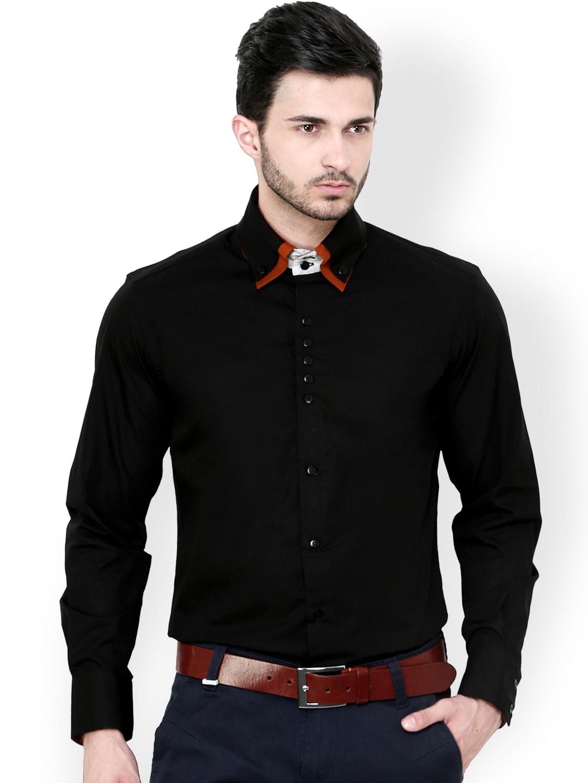 db9226585 Men Formal Shirts 1 Jet Black Fs - Buy Men Formal Shirts 1 Jet Black Fs  online in India