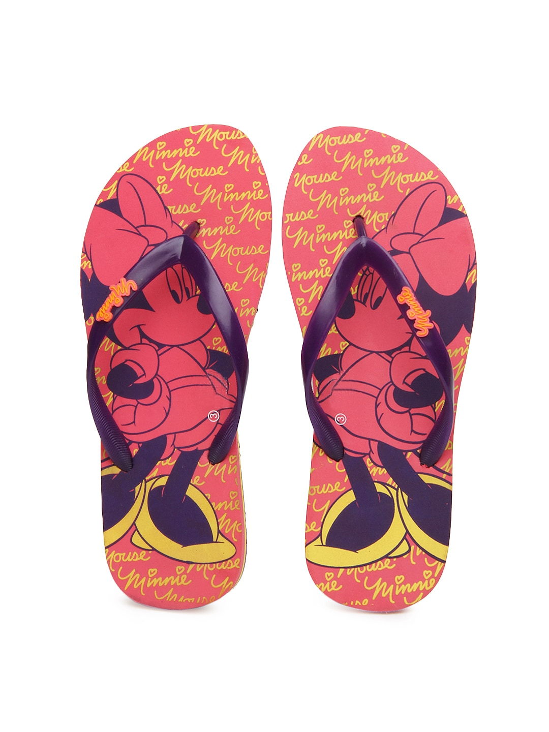 f9f4150df Buy Disney Women Purple   Pink Flip Flops (multicolor) 1423735 for ...
