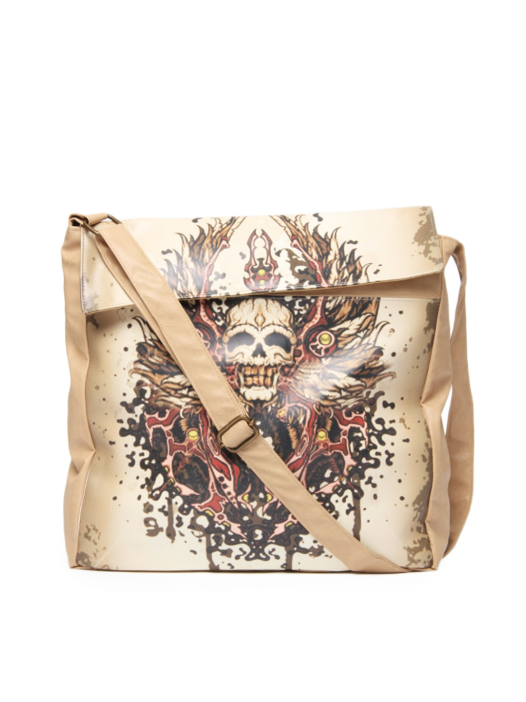 Buy DressBerry Women Brown & Beige Printed Sling Bag (beige/sand ...