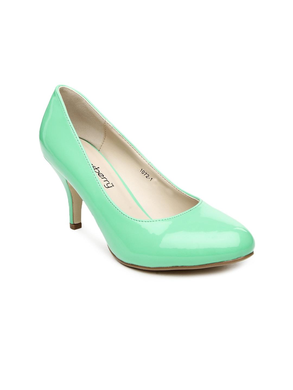 51ea8742a15 Buy DressBerry Women Green Heeled Shoes 1345666 for women online in ...