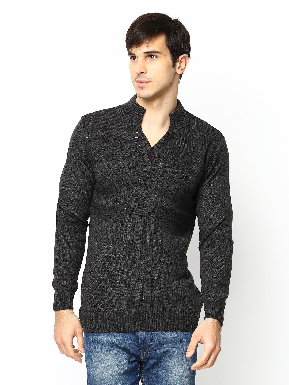 Duke Men Charcoal Grey Sweater