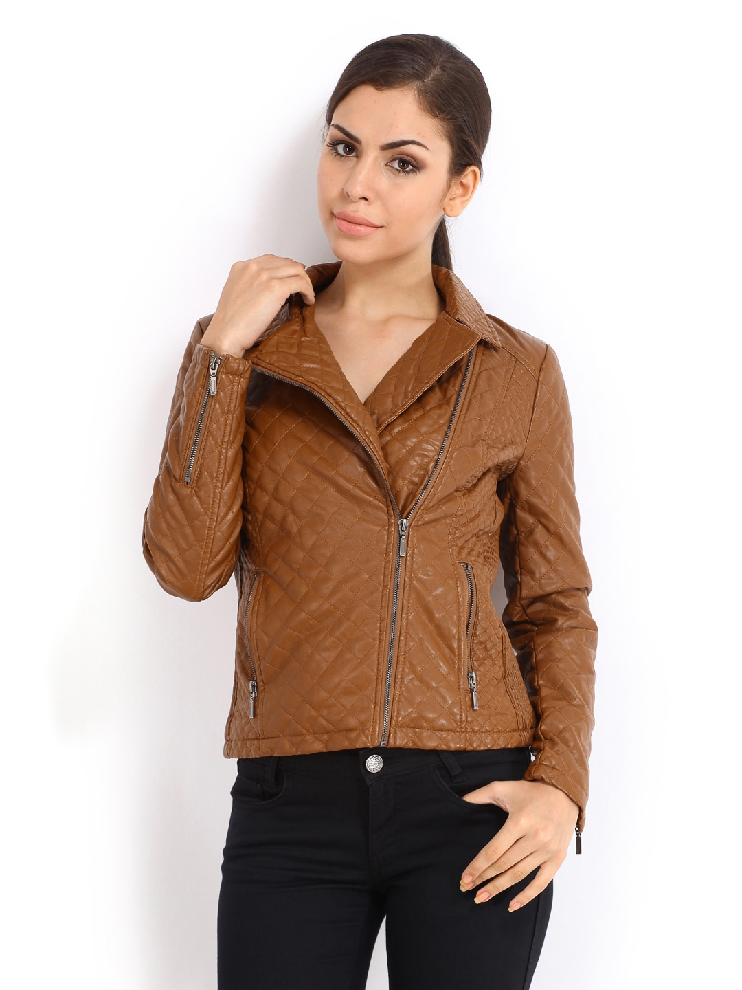 Elle Women Brown Jacket