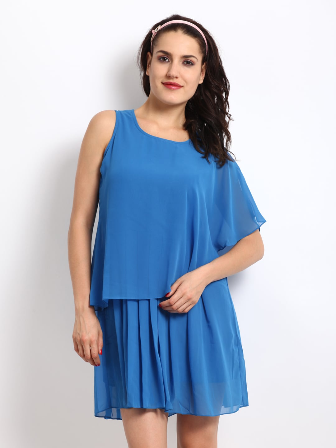 Elle Blue Layered Dress